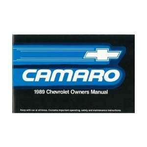 1989 CHEVROLET CAMARO Owners Manual User Guide Automotive