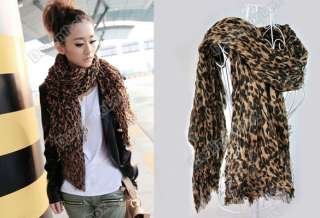 Ladies Fashion Larger Animal Leopard Print Shawl Scarf Neck Wrap Stole