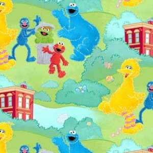 Sesame Street Fabric Big Bird Cookie Monster & Elmo