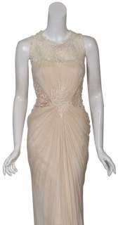 TADASHI Elegant Silk Lace Beaded Eve Gown Dress 10 NEW