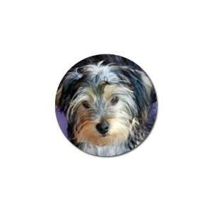 Yorkshire Terrier Puppy Dog 3 Golf Ball Marker (10 pk