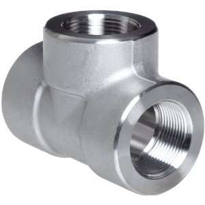 Forged Stainless Steel Pipe Fitting, Tee, Class 3000, 3/8 NPT Female