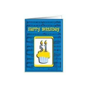 51st Birthday Cupcake, Happy Birthday Card Toys & Games
