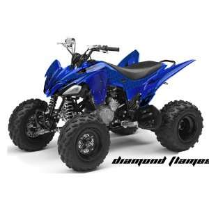 AMR Racing Yamaha Raptor 250 ATV Quad Graphic Kit   Diamond Flames