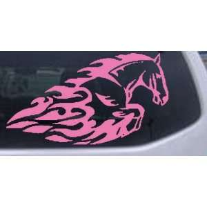 Flaming Mustang Horse Animals Car Window Wall Laptop Decal
