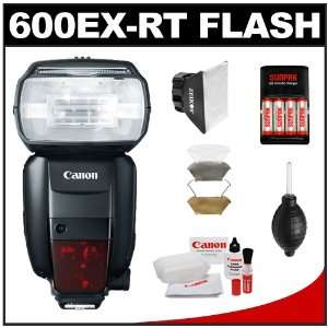 Canon Speedlite 600EX RT Flash with Soft Box + Diffuser