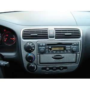 Honda Civic 2001 2005 REAL Carbon Fiber Dash Trim Kit