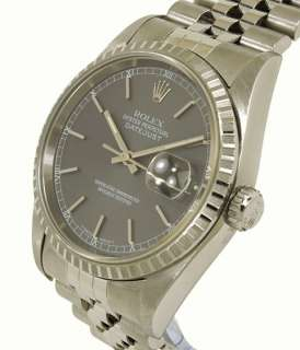 TRENDY STAINLESS STEEL ROLEX DATEJUST MENS WRIST WATCH