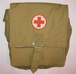 VINTAGE. Soviet ARMY Russian Military SURPLUS Medic Bag Red Cross