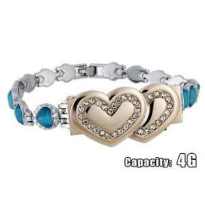 Bracelet Shaped 4GB USB Flash Drive (Blue) Everything