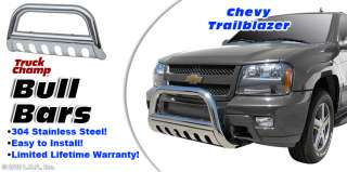 Bull Bar 3 Stainless Push Grill Guard 2002 2009 CHEVY GMC TRAILBLAZER