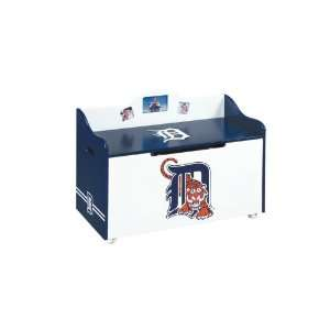 Detroit Tigers Wood Wooden Toy Box Chest