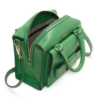 NWT Kate Spade Bow Bridge Kennedy Leather DARK SPEARMINT Handbag Green