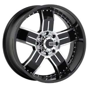 24x10 Mamba Type M8 (Black / Machined) Wheels/Rims 5x139.7