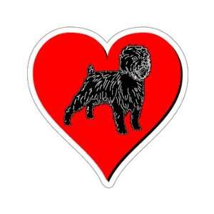 Affenpinscher Love   Window Bumper Sticker Automotive