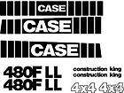 480F LL New Case Loader Backhoe Whole Machine Decal Set Construction