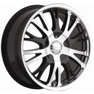 Akuza Drift 22x9.5 Machined Black Wheel / Rim 6x135 with a 35mm Offset