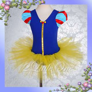 Snow White Girl Ballet Tutu Dance Costume Dress Sz 7 8