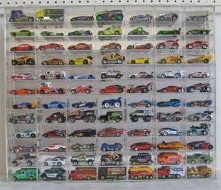 84 Hot Wheels 164 Scale Diecast Display Case, Acrylic