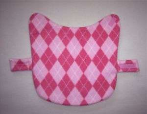 PINK ARGYLE FLEECE SMALL DOG COAT  DOG 6 8 LBS
