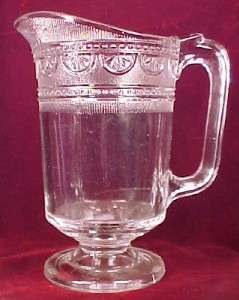 EAPG Antique 1880s SHERATON WATER PITCHER Bryce Higbee