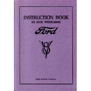 1933 FORD CAR 112 Inch Wheelbase Owners Manual Guide Automotive