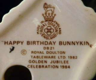 Royal Doulton Happy Birthday Bunnykins Figure DB 21