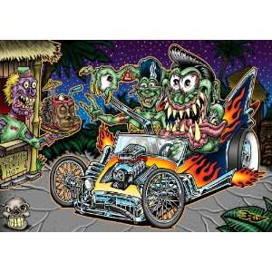 Cruzin Freaks ~ Wooden Jigsaw Puzzle Toys & Games