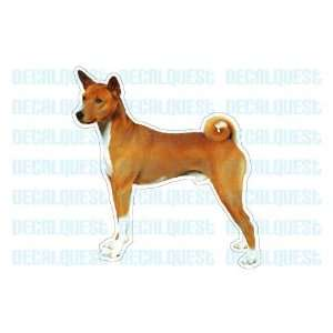 BASENJI   Dog Decal   sticker dogs car got window decals