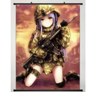 Home Decor Japanese Anime Wall Scroll Angel Beats Kanade Tachibana,24