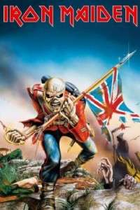 IRON MAIDEN POSTER The Trooper union jack eddie war NEW