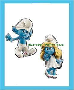 SMURFS PARTY BALLOONS BIRTHDAY supplies BOY GIRL XL