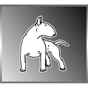 Bull Terrier Dog Lover Design Vinyl Decal Bumper Sticker 4