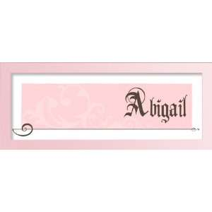 Pink OrnamentSimple pink name art. Baby Gift, Baby Shower Gift
