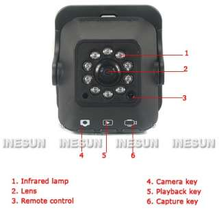 Car Vehicle 140 Degree Mini Motion Detection IR Day&Night Camera Video