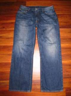 Mens Lucky Brand 181 Ashbury Bootleg Zip Fly Jeans size 34 x 29 Short