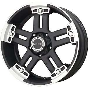 V Tec Matte Black Machined Wheel (17x8.5/8x170mm