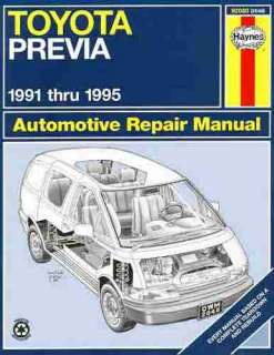 by step repair service manual for the toyota previa vans 1991 1995