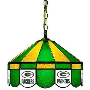 Green Bay Packers 16in Pub/Bar Stained Glass Lamp/Light