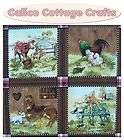 Babies Farm Animals Horse Foal Chicken Cow Quilting Patchwork 14 Block