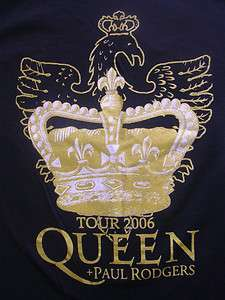 QUEEN PAUL RODGERS ENGLAND ROCK BAND TOUR SHIRT BAD COMPANY