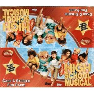 2007 Topps High School Musical Trading Cards Box   24 packs of 4 cards