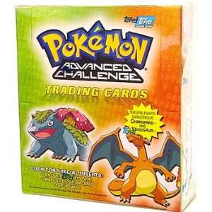 Topps Pokemon Advanced Challenge Trading Cards Box Toys