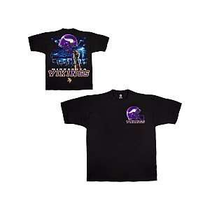 Liquid Blue Minnesota Vikings Sky Helmet T Shirt Extra