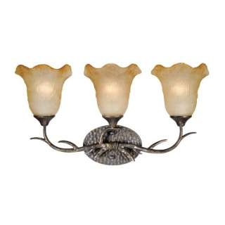NEW 3 Light Rustic Vine Bathroom Lighting Vanity Fixture, Bronze