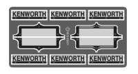 24 1/25 Kenworth Big Rigs Emblems 2201 (Photo Etched)
