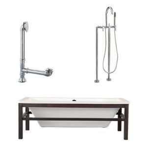 Giagni LT2 PC Tella 67 Tub with Floor Mount Faucet and Lever Handles