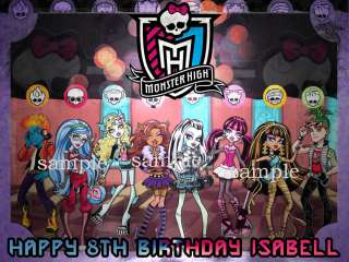 MONSTER HIGH Dolls Edible Birthday CAKE Image Icing Sheet NEW