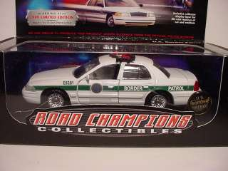 United States Border Patrol Police Ford Road Champs BOX