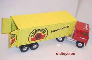 SHOPRITE SUPERMARKETS PRESSED STEEL TRACTOR TRAILER ERTL 21 1/2 INCH